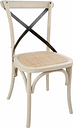 Bolero Bentwood Chairs with Metal Cross Backrest (Pack of 2)