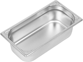 Vogue Heavy Duty Stainless Steel 1/3 Gastronorm Pan 100mm