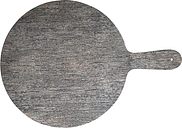 Churchill Alchemy Buffet Handled Melamine Round Paddle Boards Distressed Wood 450mm