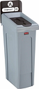 Rubbermaid Slim Jim Compost Recycling Station Brown 87Ltr