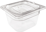 Rubbermaid Polycarbonate 1/6 Gastronorm Container 150mm Clear