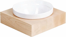 APS Frames Maple Wood Large Square Buffet Bowl Box