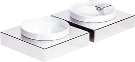 APS Frames Stainless Steel Small Square Buffet Bowl Box