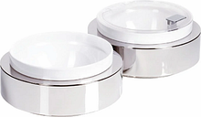 APS Frames Stainless Steel Large Round Buffet Bowl Box