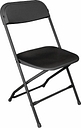 Bolero PP Folding Chairs Black (Pack of 10)