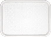 Kristallon Polypropylene Fast Food Tray White Large 450mm