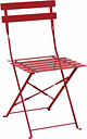 Bolero Red Pavement Style Steel Chairs (Pack of 2)