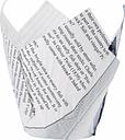 Grease-Resistant Paper Chip Crowns Newspaper Print (Pack of 1100)