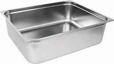 Vogue Stainless Steel 2/1 Gastronorm Pan 200mm