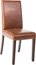 Bolero Faux Leather Dining Chair Antique Tan (Pack of 2)