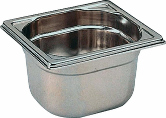 Matfer Bourgeat Stainless Steel 1/6 Gastronorm Pan 150mm