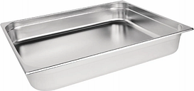 Vogue Stainless Steel 2/1 Gastronorm Pan 100mm