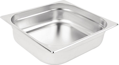 Vogue Stainless Steel 2/3 Gastronorm Pan 100mm