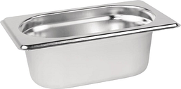 Vogue Stainless Steel 1/9 Gastronorm Pan 65mm