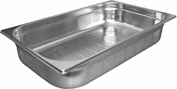 Vogue Stainless Steel Perforated 1/1 Gastronorm Pan 200mm