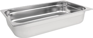 Vogue Stainless Steel 1/1 Gastronorm Pan 100mm