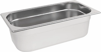 Vogue Stainless Steel 1/3 Gastronorm Pan 100mm