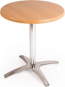 Special Offer Bolero Round Beech Table Top and Base Combo