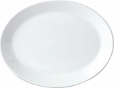 Steelite Simplicity White Oval Coupe Dishes 202mm (Pack of 24)