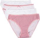 Womens 4pk Pink Spot High Cut Briefs
