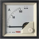 RS PRO Analogue Panel Ammeter 10 (Input) A, 100/5 (CT) A, 200 (Scle) A AC, 72mm x 72mm, 1 % Moving Iron