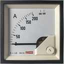 RS PRO Analogue Panel Ammeter 10 (Input) A, 200/5 (CT) A, 400 (Scle) A AC, 72mm x 72mm, 1 % Moving Iron