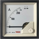 RS PRO Analogue Panel Ammeter 10 (Input) A, 250/5 (CT) A, 500 (Scle) A AC, 72mm x 72mm, 1 % Moving Iron