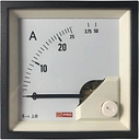 RS PRO Analogue Panel Ammeter 50 (Input)A AC, 72mm x 72mm, 1 % Moving Iron