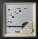 RS PRO Analogue Panel Ammeter 80 (Input)A AC, 72mm x 72mm, 1 % Moving Iron