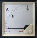 RS PRO Analogue Panel Ammeter 10 (Input)A AC, 96mm x 96mm, 1 % Moving Iron
