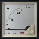 RS PRO Analogue Panel Ammeter 10 (Input) A, 100 (Scle) A, 50/5 (CT) A AC, 96mm x 96mm, 1 % Moving Iron
