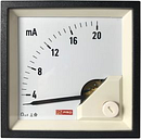 RS PRO Analogue Panel Ammeter 20 (Input)mA DC, 72mm x 72mm, 1 % Moving Coil