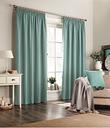 furn. Harrison Herringbone Pencil Pleat Curtains in Marine - Blue - Size 229cm (w) x 183cm (l)