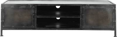 Metal industrial TV unit, black