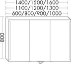 Burgbad Spiegelschrank Sys30 PG4 800x1500x170 Eiche Schwarz, SPEW150RF3449 SPEW150RF3449