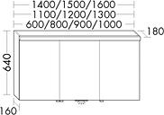 Burgbad Spiegelschrank Orell Melamin 640x900x180 Hacienda Schwarz, SPLB090F1696 SPLB090F1696