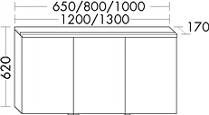 Burgbad Spiegelschrank Sys30 PG1 620x800x170 Tectona Dekor Zimt, SPFO080F3423 SPFO080F3423