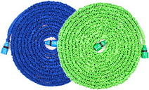 Expandable Garden Hose  - 25', 50', 75', and 100' - Blue, 25'