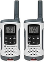 Motorola - Talkabout 25-Mile, 22-Channel FRS/GMRS 2-Way Radio (Pair) - White with Red Lanyard Bar