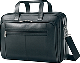 "Samsonite - Leather Business Laptop Case for 15.6"" Laptop - Black"