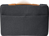 "HP - Laptop Sleeve for 15.6"" Laptop - Charcoal gray"