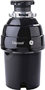 GE - 1 HP Continuous Feed Garbage Disposer - Black