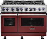 Viking - Professional 7 Series Freestanding Double Oven LP Gas Convection Range - Reduction Red