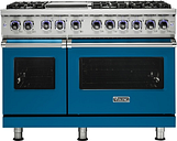 Viking - Professional 7 Series Freestanding Double Oven LP Gas Convection Range - Alluvial Blue