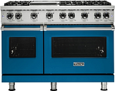 Viking - Professional 5 Series Freestanding Double Oven LP Gas Convection Range - Alluvial Blue
