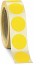 Żółte etykiety 35mm 500 szt na rolce