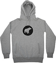 Plain Bear - Black On Grey PB Hoodie - M - Grey