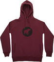Plain Bear - Black On Burgundy PB Hoodie - S - Red
