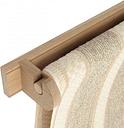 Creamore Mill - Oak Roller Towel Rail & Towel - Wood/Natural