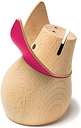 Siebensachen - Pink Lady Miss Piggy Money Box - Wood/Pink